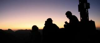 Sonnenuntergang auf der Rüfispitze